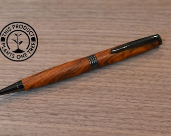 Pen - Cocobolo, Trimline, Gun Metal Finish, Twist Style