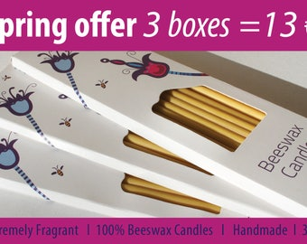 100% Beeswax Candles. Handmade. Extremely Fragrant. Eco-friendly. Gift.