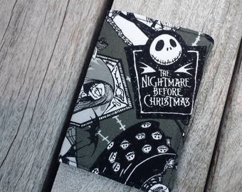 Halloween print fabric cards holder, credit card holder, fabric card holder, the nightmare before Christmas, mini wallet, card case