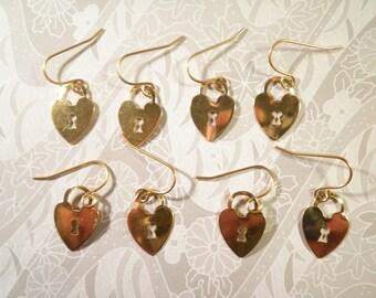 4 Pairs of Goldplated Lock Earrings