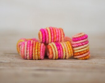 Handmade Fabric Textile Beads for Artisan Jewelry Designs