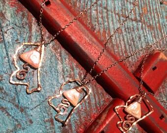 Mississippi delta necklace, Delta river pearl Silver and Gold, Mississippi Necklace, Mississippi Jewelry, Mississippi River, Delta