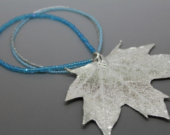 Silver Maple Leaf Ornament