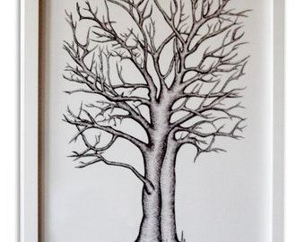 Printable Wedding Thumbprint Tree - Guestbook Alternative