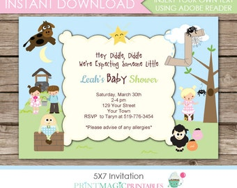 Diddle diddle invite Etsy