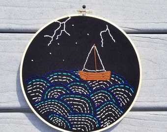 Lost at Sea Embroidery