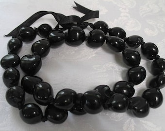 Vintage Kukui Nut Lei Necklace
