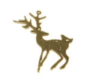 30 x 60mm Bronze Reindeer Ornament