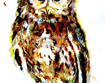 Owl - Bird Collection, Ref BC003_Ow