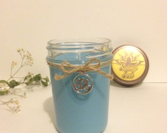 Lotus Charm, Scented Candle/ Yoga candle