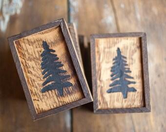 Oak Wooden Box Tiger Branded Pine Tree Reclaimed Lumber Olde Timber Workshop OTW Handcrafted Nature Gift Ideas