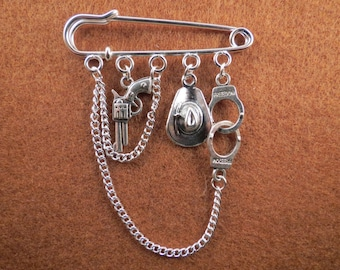 Zombie Apocalypse Rick kilt pin brooch (50 mm)