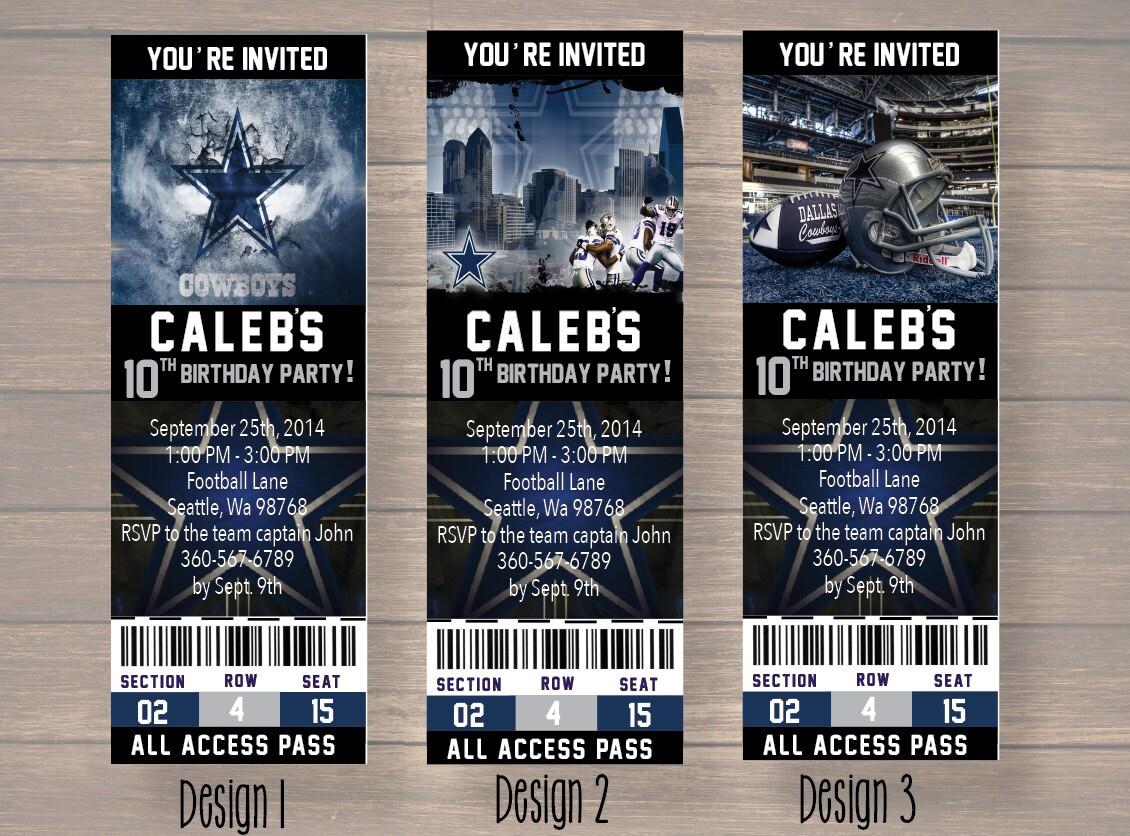 Dallas cowboy dallas cowboy birthday invitation dallas zoom kristyandbryce Choice Image
