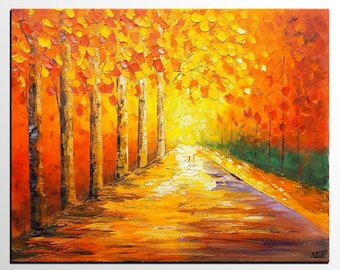 Wall Art, Abstract Art, Oil Painting, Oil Painting, Autumn Painting, Landscape Painting, Abstract Painting, Large Art, Canvas Art, Wall Art
