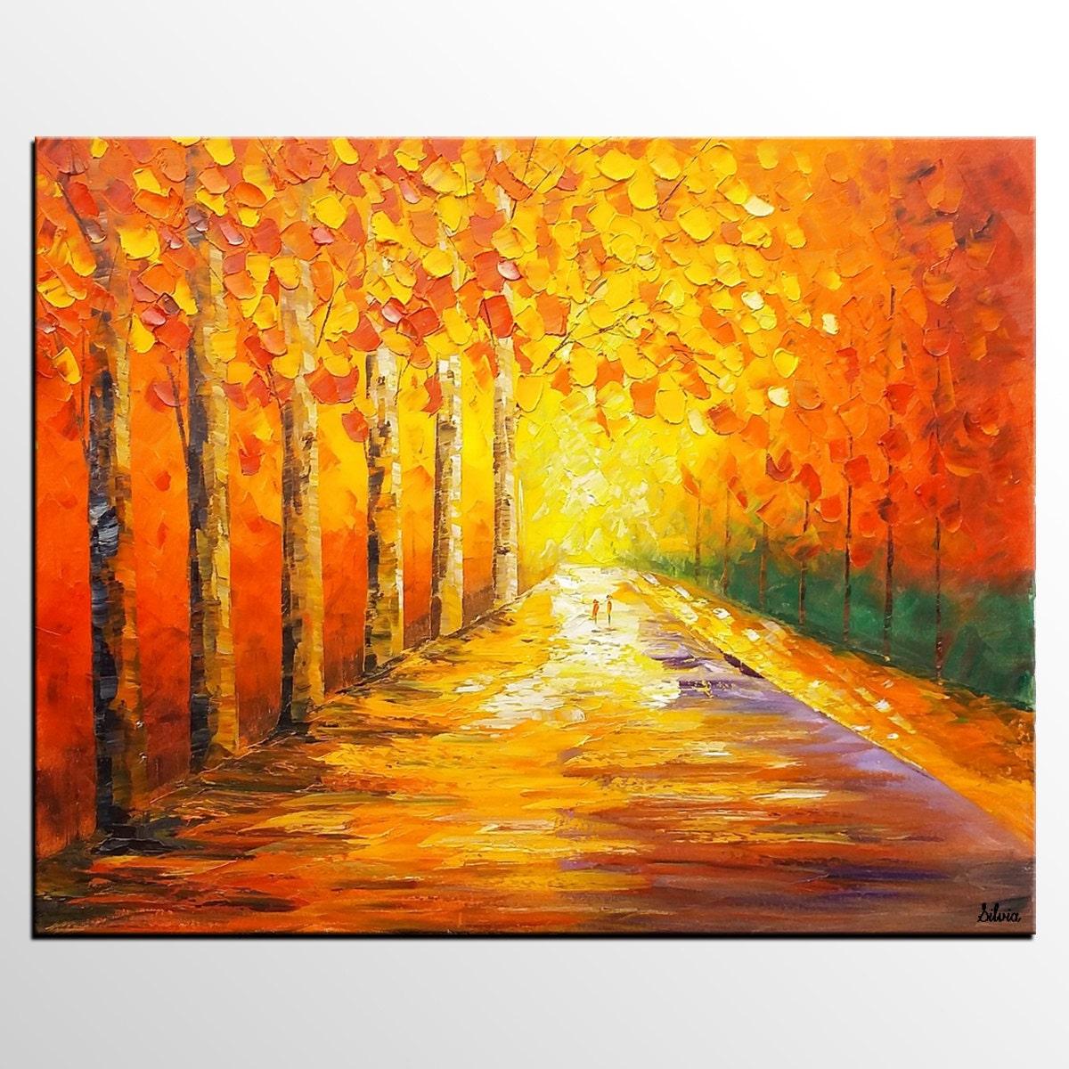 Wall Art Abstract Art Oil Painting Oil Painting Autumn