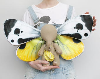 ADOPT ME! I'm Available Right Now. Four-Wings Design !Art Collectible Toy, Magic Elephant, Butterfly Wings Elephant, Butterfly Wings