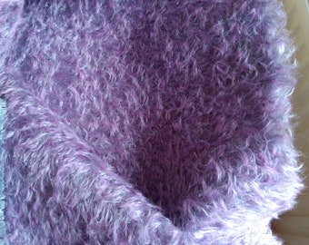 Stunning Dense Curly   20mm  Lilac Tipped  Mohair - Limited Edition