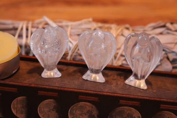 Clear Quartz Angel, Crystal Pocket Angel, Carved Quartz, Healing Crystals, Angel Talisman, Pocket Angels, Crystal Angel, Crystal Grid