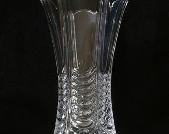 Royal Signals Wings Flower Vase Cut Crystal Glass Military Gift ME30