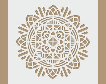 Mandala Motive - Sacred Geometry Stencil