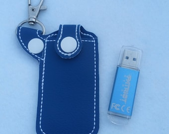 USB holder flash drive chapstick case lip balm pouch key chain keyfob snaptab