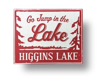 Higgins Lake sign 11x12- Michigan lake sign, Higgins lake Michigan, Michigan Lake sign, Higgins lake decor, Higgins lake house, Michigan