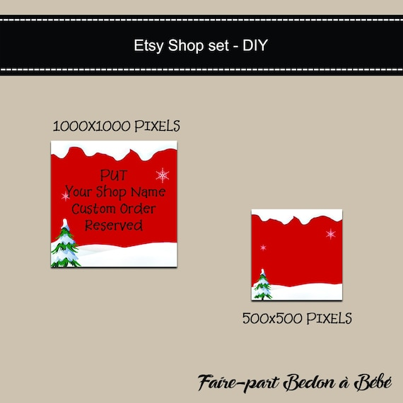 Blank diy etsy shop set christmas banner do it yourself blank diy etsy shop set christmas banner do it yourself shop set christmas etsy banner holiday etsy set instant download solutioingenieria Image collections