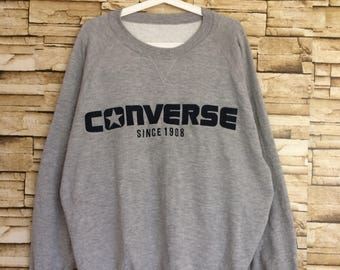 Sale 90's CONVERSE embroidered spell out sweatshirt crewneck