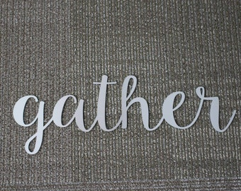 Metal Sign: Inverted Gather