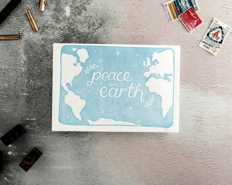 Peace On Earth Letterpress Christmas Card