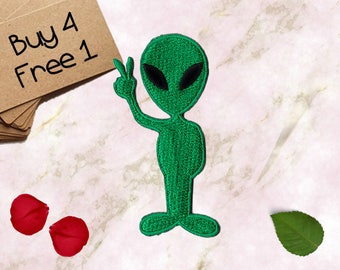 Alien Patches ET Patches Iron On Patch Embroidered Patch Sew On Patch Patches And Pins