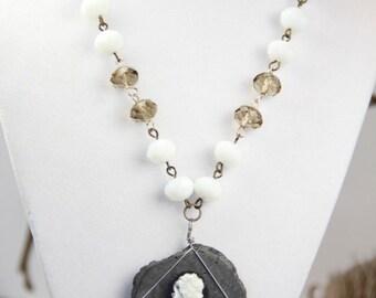 Queen of the Moonlight Fairy Tale Book Geek Girl Necklace