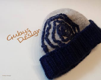 Hat, Filzmütze with knitted rim, life style, warm wrapped in the winter
