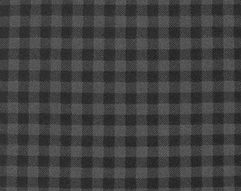 One (1) Yard - Burly Beavers FLANNEL plaid print Robert Kaufman Fabric AHEF-15995-293 Smoke Gray