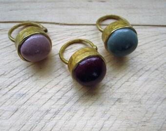 Morocco Skin Ball Ring
