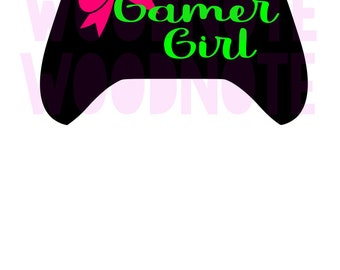 Gamer Girl SVG Xbox Video Games Girl Gamer Green Pink Player One Ready Player One Fortnite COD Call of Duty Ps4 Playstation Battlefield Game
