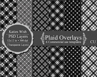Plaid Designs digital overlay kit commercial use layered PSD template files
