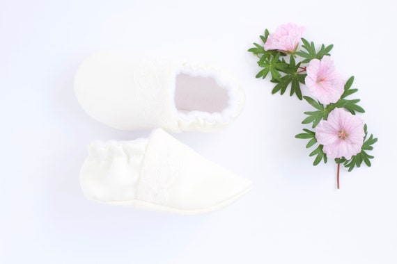girls christening shoes, baby shoes, baby moccs, ivory shoes for girls