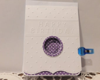 Dots and Flower Birthday card