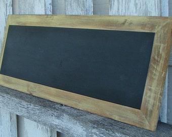 Chalkboard with yellow trim