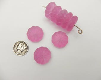 Japanese Frosted Rose 20mm Flower Beads (1 piece)