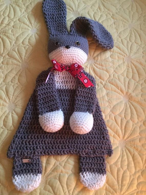 Gray and Cream Rabbit/Bunny Rag Doll Toy/Lovey—SALE