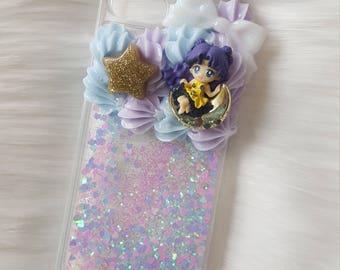 magical girl luna glitter fall case for iphone 8/7/6/6s