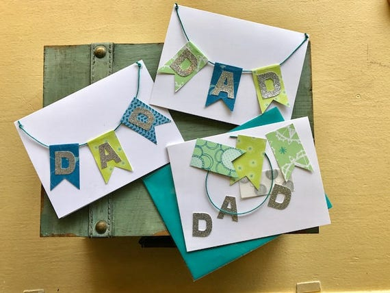 Fathers day banner diy card making kit fathers day handmade m4hsunfo