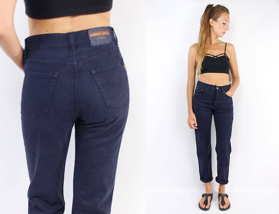 High Waist Jeans / High Waisted Jeans / Vintage Mom Jeans / High Rise Jeans / Boho Hippie / Blue Mom Jeans / Vintage Blue Jeans
