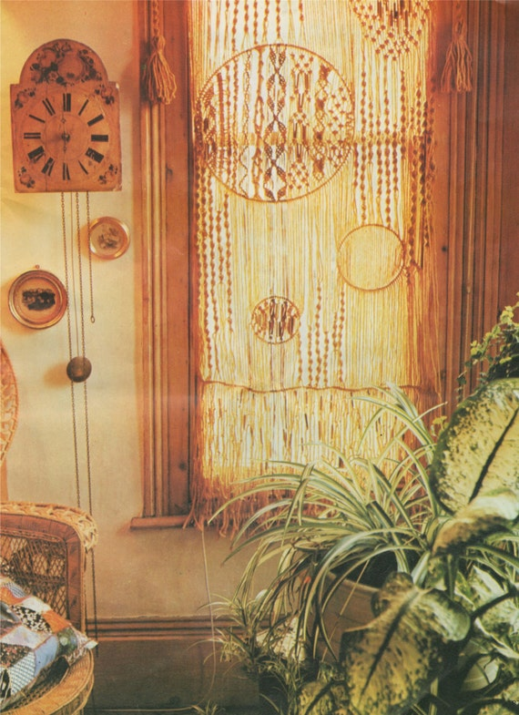 Door Curtain PDF Macrame Pattern . Wall Hanging . Window Covering ...
