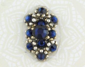 Duchess Bindi-Navy Blue-Antiqued Silver-Bellydance-Bollywood-Wedding-Cabaret-Burlesque-Stage-Costume