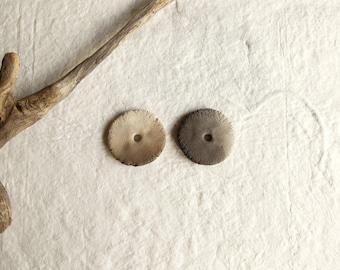 Ceramic beads; pair of beads; primitive beads; artisan beads; rustic beads; pair ceramic beads; wabi sabi beads