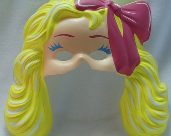 Vintage Fashion Barbie Mattel Halloween Mask Doll Makeup Style Blonde Blondie