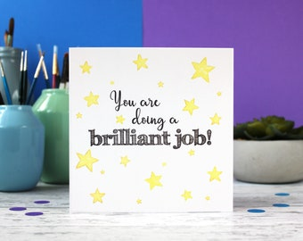You are doing a brilliant job, new mum card, well done card, motivational card